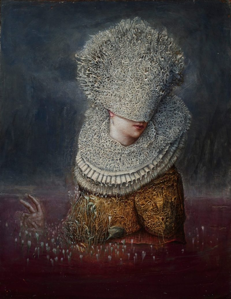 ematofagi-erzebeth-bathory-the-blood-countess-and-countess-dracula-2014-oil-gold-leaf-on-wood-by-agostino-arrivabene