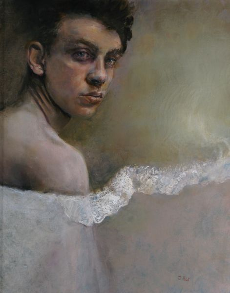 "Judith Peck, ""Veiled Gender,"" 20x16, Oil on linen"