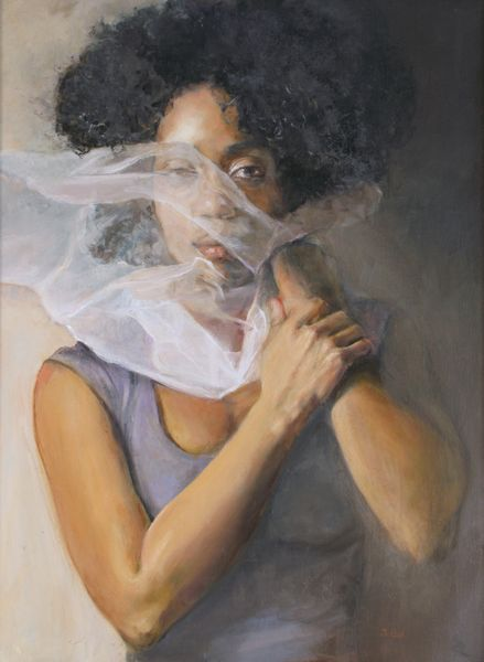 "Judith Peck, ""Veiled Identity,"" Veiled Identity, 24x18, Oil on linen"