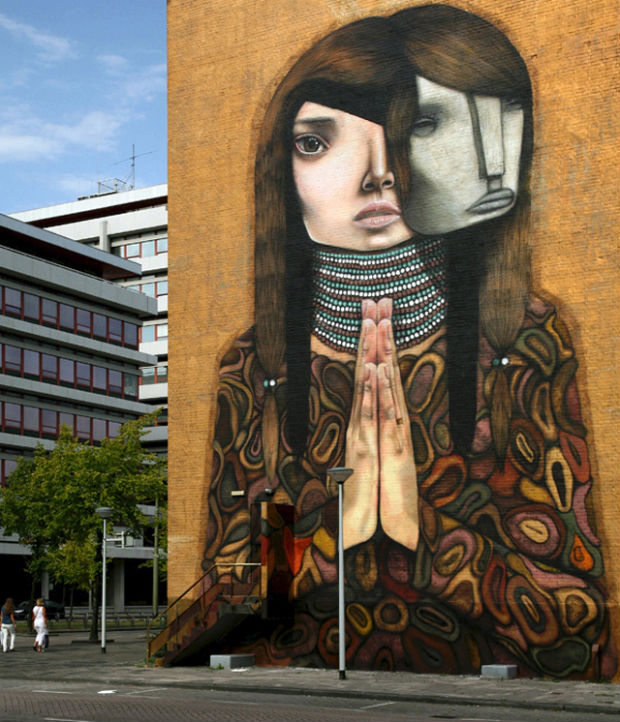 Public mural by Dante Horoiwa, Rotterdam, The Netherlands