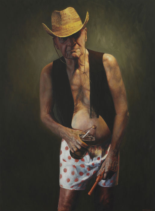 """""""40 oz"""" Jason Bard Yarmosky, oil on linen 48x36, private collection"""