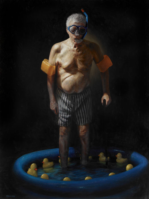"""The Bather,"" Jason Bard Yarmosky, oil on linen 48""x36"" private collection"
