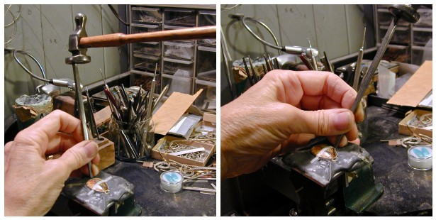 Betsy Bensen making jewlery