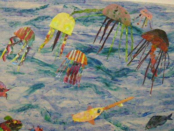 Jellyfish mural at Prune Hill Elementary
