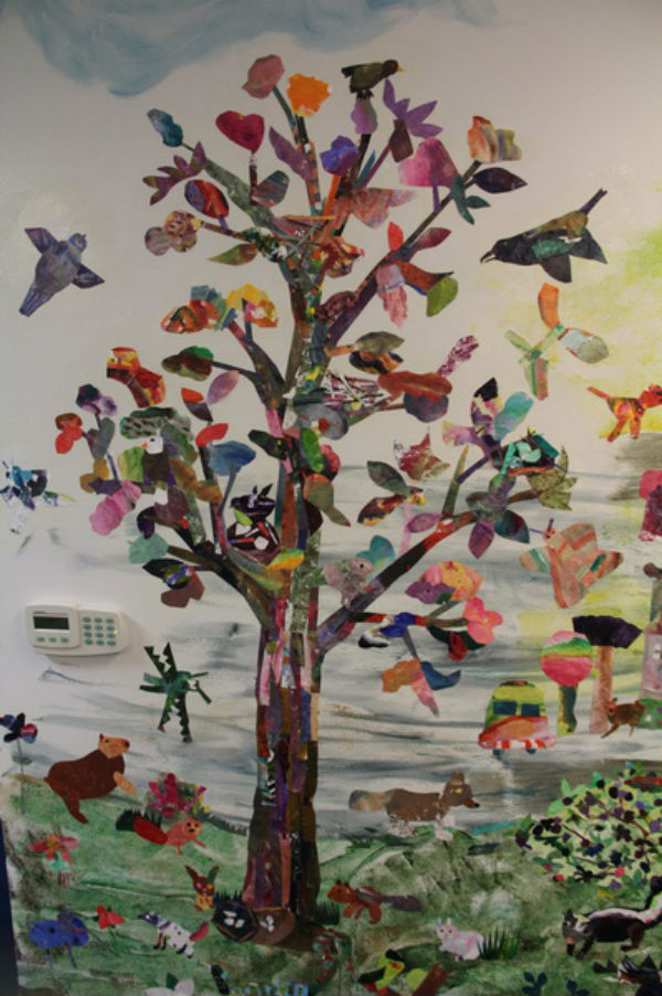 Tree Mural at Willamette Primary 600x902
