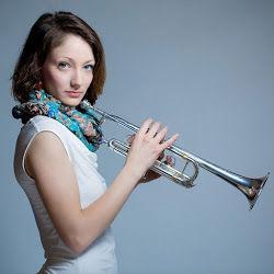 Erin Yanacek holding trupmpet