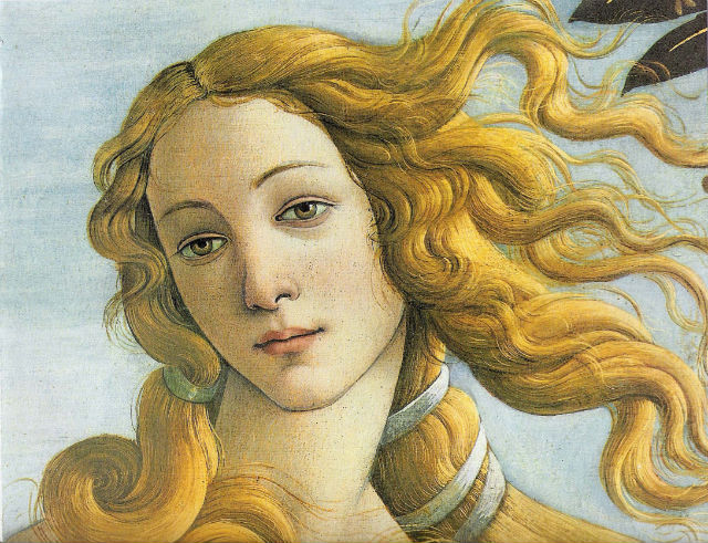 Detail of Botticelli's Venus