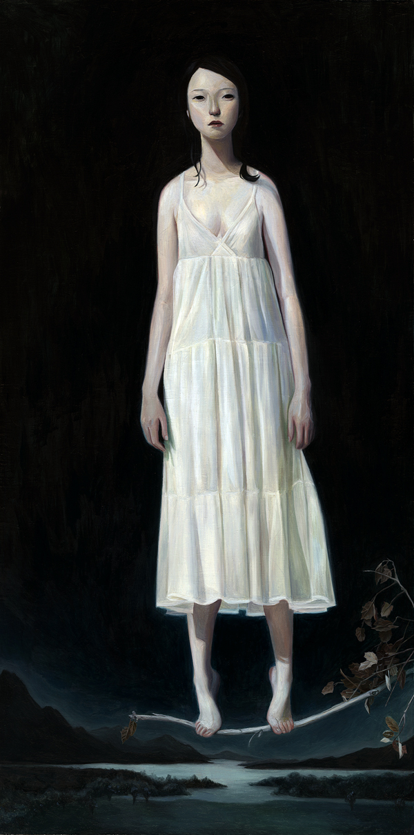 joanne nam Your Silence – Oil on wood panel 10″x20″
