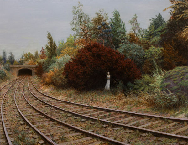 Delayed |  oil on canvas | 31 x 40 inches | 20121 |  Aron Wiesenfeld