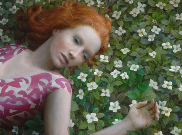 Flowerbed   oil on canvas   27 x 35 inches   2009   Aron Wiesenfeld