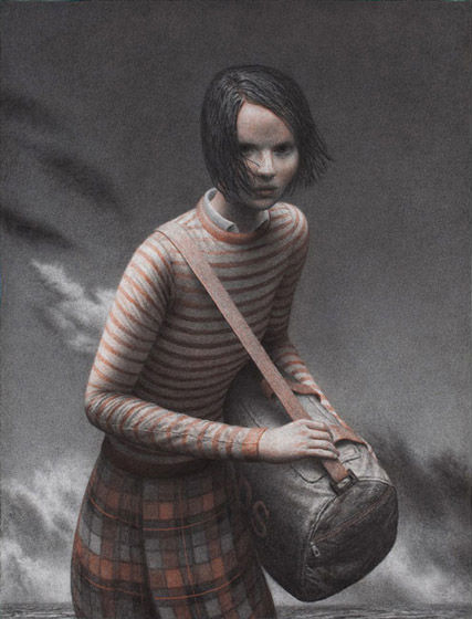 Landfall | charcoal and sanguine on paper | 50 x 38 inches | 2009 | Aron Wiesenfeld