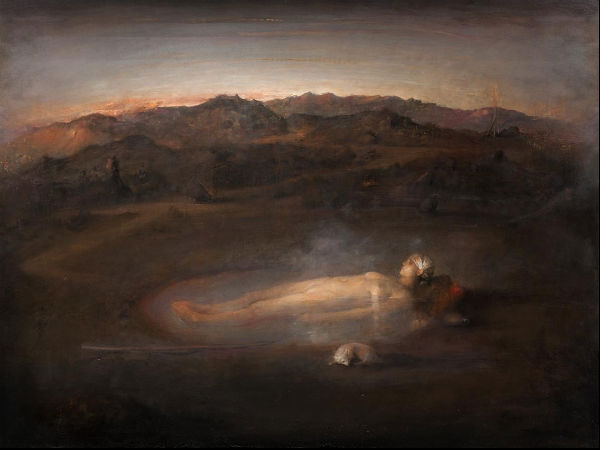 Icelandic Bath | Odd Nerdrum | oil on canvas