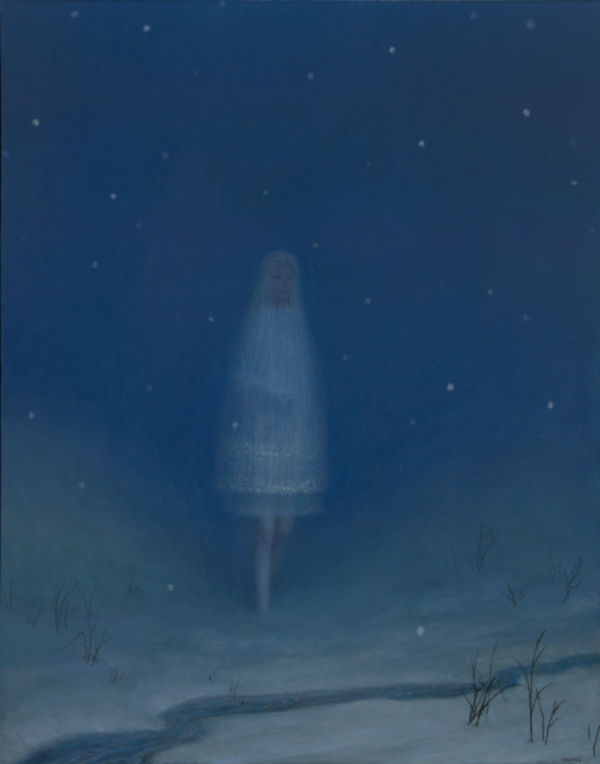 Snow as a Girl |  oil on canvas | 56 x 45 inches | 2012 | Aron Wiesenfeld