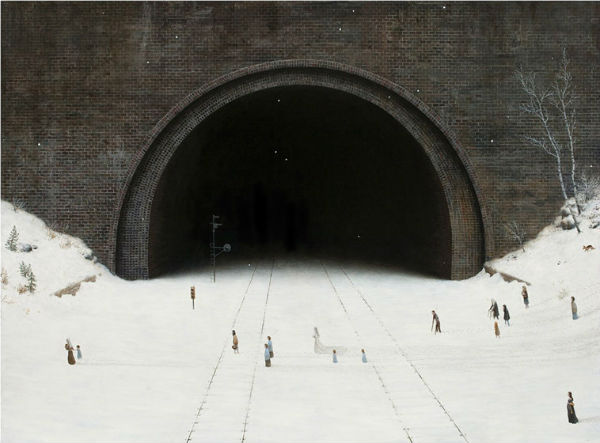 The Wedding Party | oil on canvas | 70 x 95 inches | 2011 | Aron Wiesenfeld