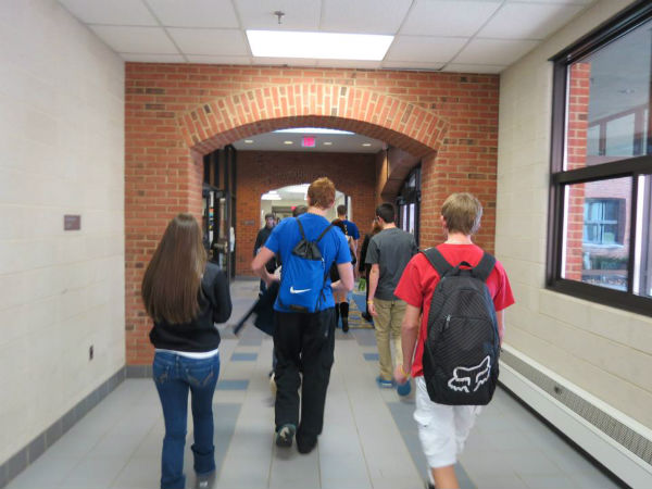 Students at the high school where Stanizzi taught up until this year.