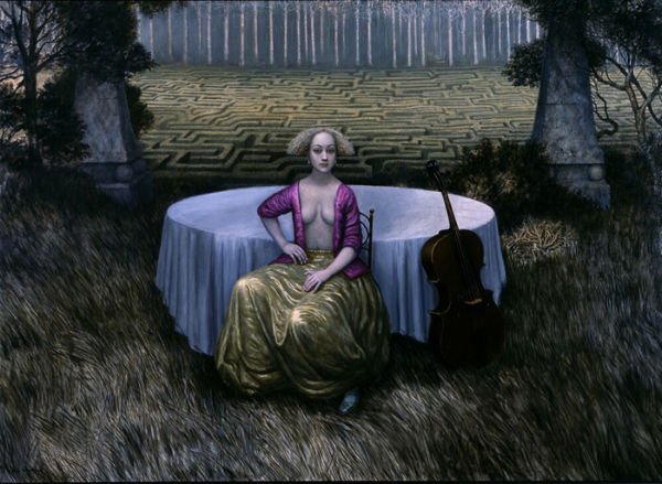 Magenta in a Rhythmic Landscape | oil on linen | 122x183cm | 2005 | Mike Worrall