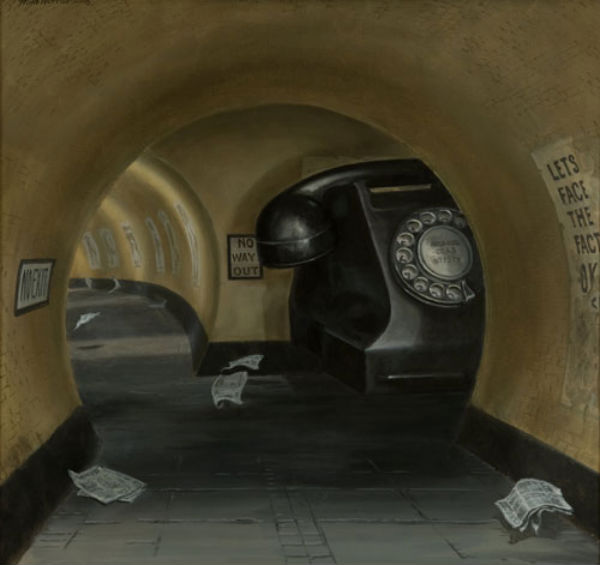 Pensive Unrest | oil on linen | 50x50cm | 2008 | Mike Worrall