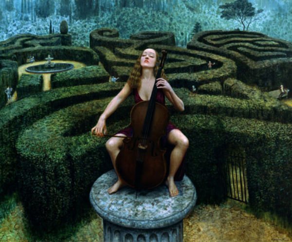Poets Corner | oil on linen | 122x155cm | 2002 | Mike Worrall