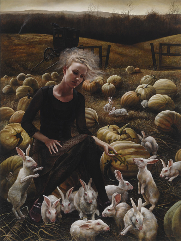 In the Hollow | 48x36 | acrylic-on-canvas | Andrea Kowch