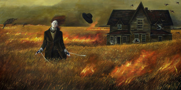 No Turning Back | 24x48 | acrylic-on-canvas Andrea Kowch