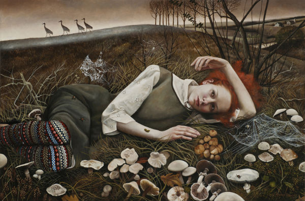 The Merry Wanderers | 24x36 | acrylic-on-canvas | Andrea Kowch