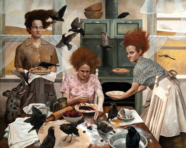 The Visitors | 48x60 | acrylic-on-canvas | Andrea Kowch