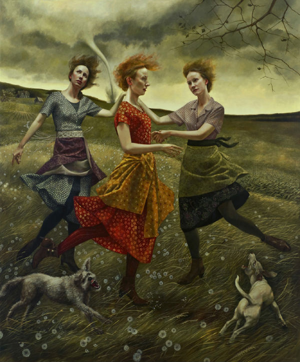 Whirlwind | 72x60 | acrylic-on-canvas | Andrea Kowch