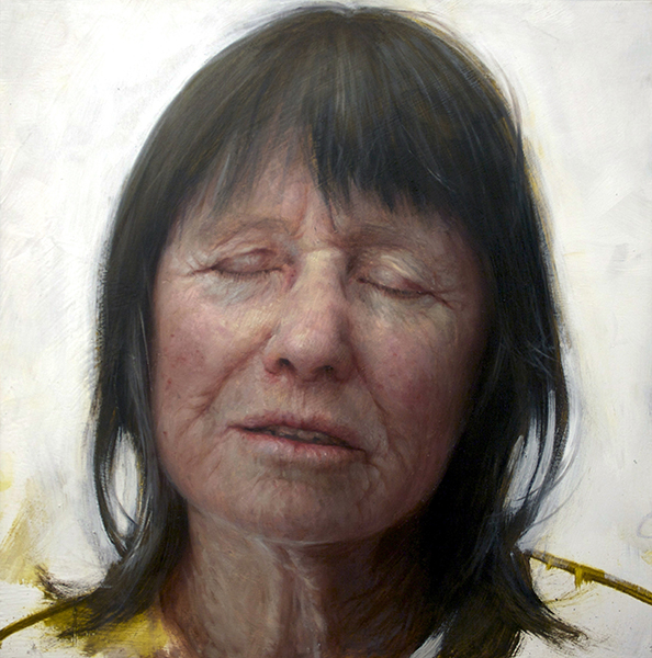 <em>Mully</em>   oil on canvas   16 x 16 inches   Aleah Chapin