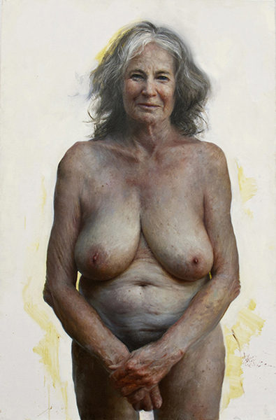 <em>Auntie</em>   oil on canvas   58 x 38 inches   Aleah Chapin