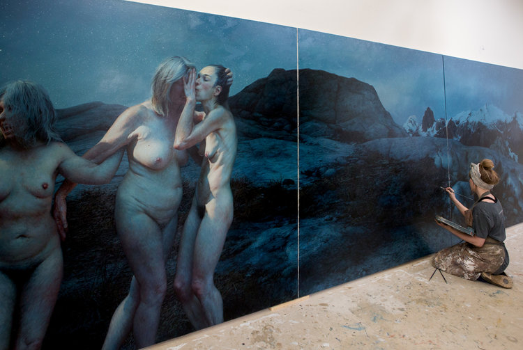 New York artist Aleah Chapin in her studio (photo: Max Hart)