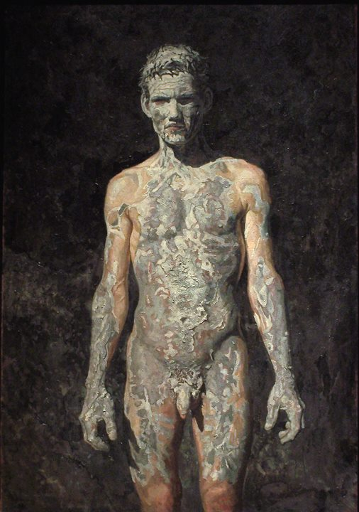 "Robert as Lazarus | acrylic on canvas/acrylique sur toile | 127 x 86 cm, 50"" x 34"" 