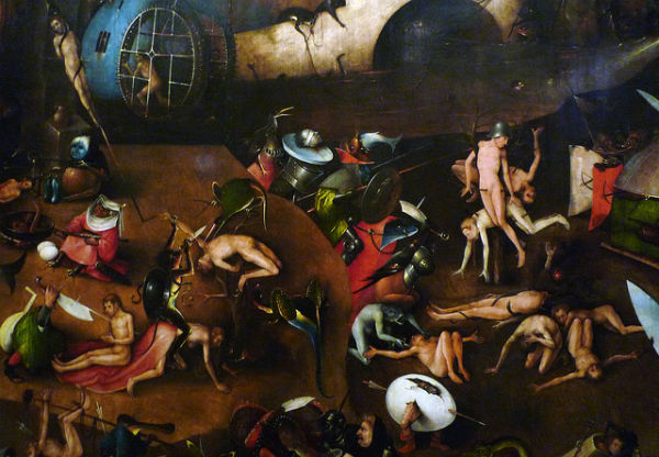 The Last Judgement, Central Panel, Detail with Tortures | oil on panel | central panel 163 x 128 cm, outer panels 167 x 60 cm each | Hieronymus Bosch | 1504-08 | Vienna