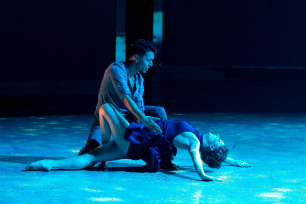 "Paul Karmiryan and Makenzie Dustman perform a passionate contemporary routine on ""So You Think You Can Dance."""