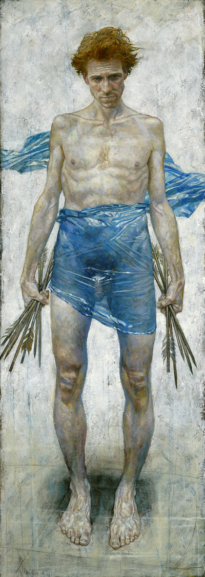 St. Sebastian | acrylic on canvas/acrylique sur toile | 183 x 66cm, 72 x 26"