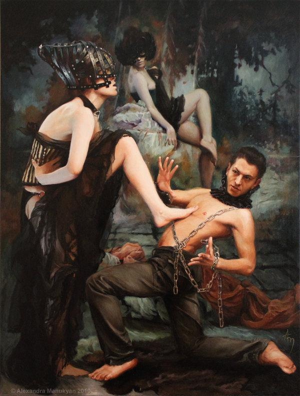 "Rejection, from the series, 'Masquerade' | 30""x40""