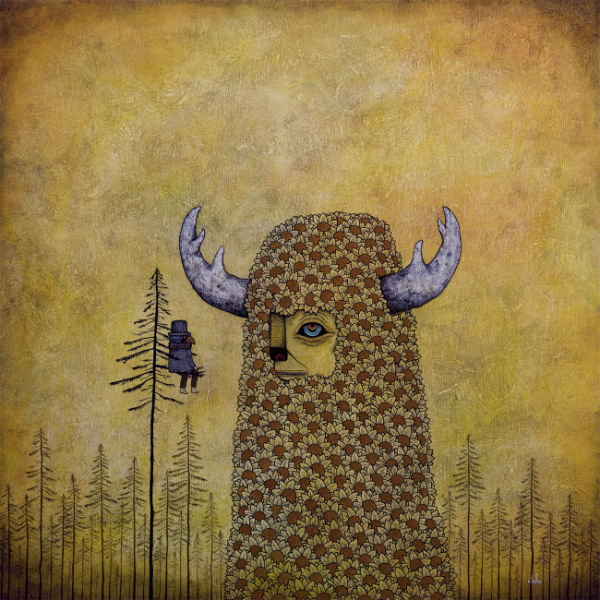 Andy Kehoe Anxiety in the Face of Grandness  oil on wood panel  24 x 24 inches (60