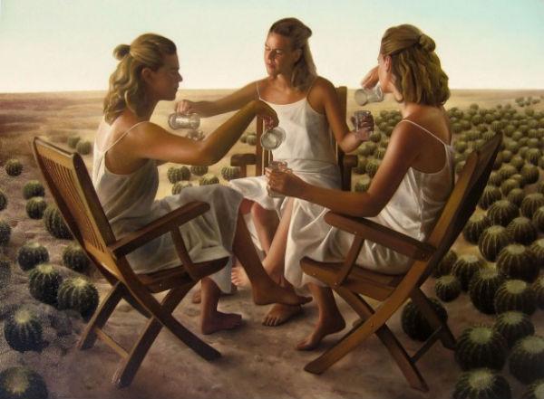 The Three Pillars   oil / canvas   130 x 97cm.   Collection JG   Edgar Noe Mendoza Mancillas