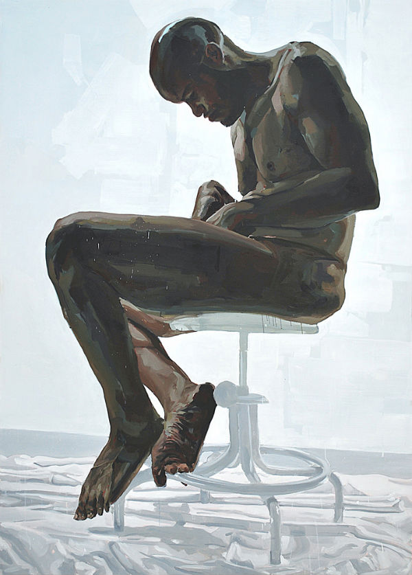 <em>Turn</em> | 2009 | oil on canvas | 84 x 60 inches. | Patrick Earl Hammie