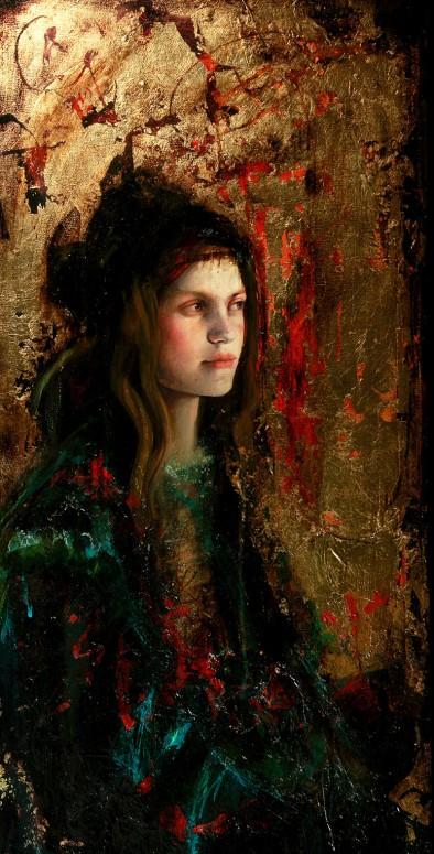 "Intervalo | mixed media on canvas | 16"" x 35"" | 2010 | Sol Halabi"