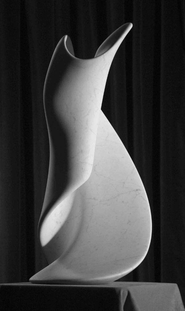 <em>Psalm</em> {front} |  Cararra Marble | (H)54 x (W)25 cm | Ian Thomsn