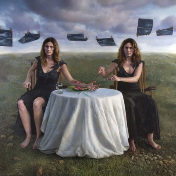 The Snack   oil / canvas   200 x 200 cm.   MEAM European Collection Museum of Modern Art   Edgar Noe Mendoza Mancillas