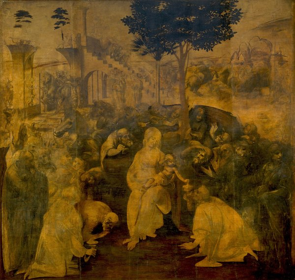 Adoration of the Magi | Leonardo da Vinci |1482 | Uffizi Gallery