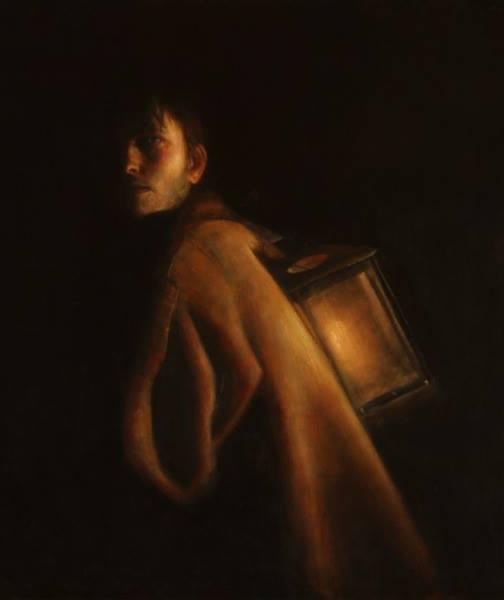 "Diogenes | 32"" x 27"" | Luke Hillestad"