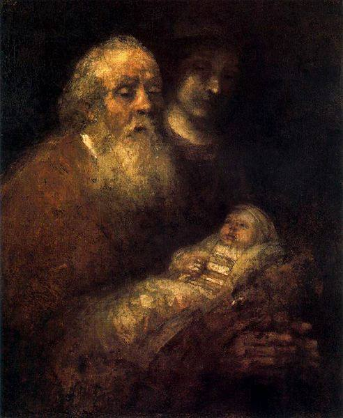 Simon with Jesus | 1669 | Rembrandt | National Museum, Stockholm