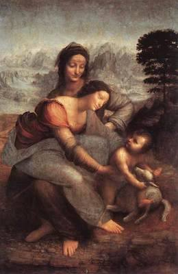 The Virgin and Child with Saint Anne | Oil | 1510 | Leonardo Da Vinci | Musée du Louvre, Paris