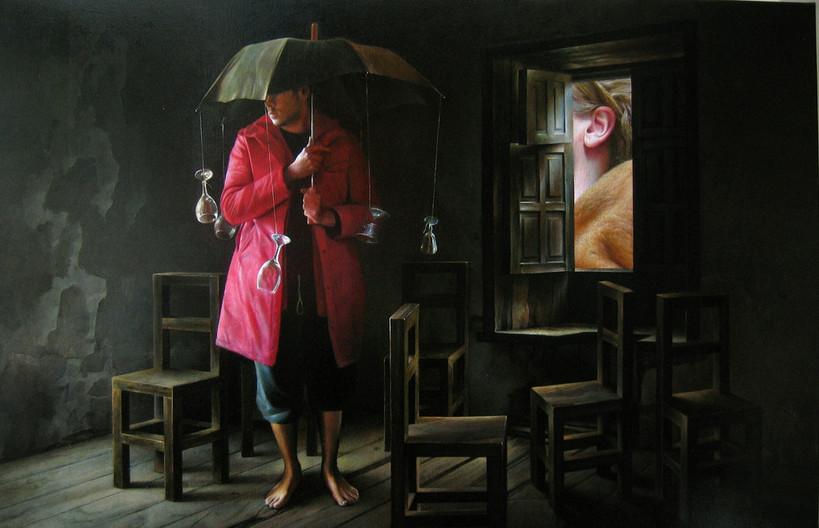 The Burrow   oil _ canvas   100 x 65cm.   Edgar Noe Mendoza Mancillas