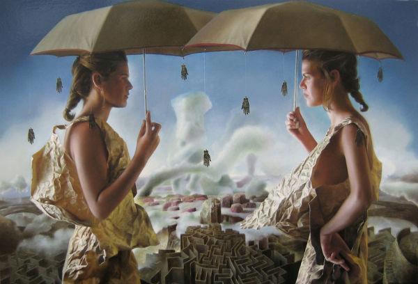 2 Pilares | óleo/tela | 73 x 50cm. | Colección JG