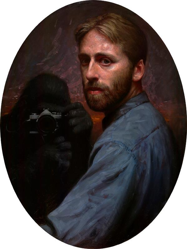 Monkey Painting | oil on panel 24 x 18 inches | 2005
