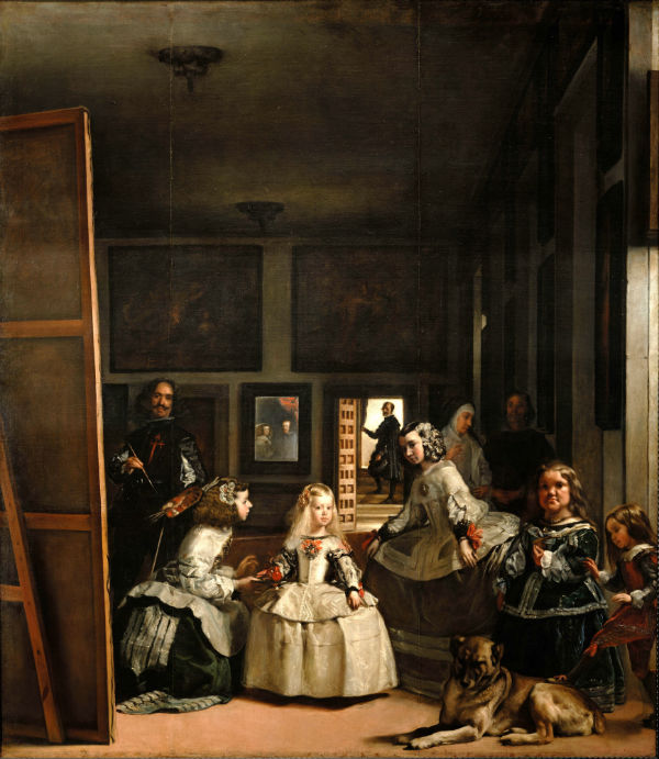 Las Meninas (The Maids of Honor) | Oil on canvas | 318 cm × 276 cm (125.2 in × 108.7 in | 1656 | Diego Velázquez | Museo del Prado, Madrid