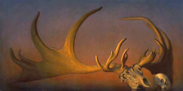 Megalocerous Giganteus, Oil on linen, 36x72, 2011